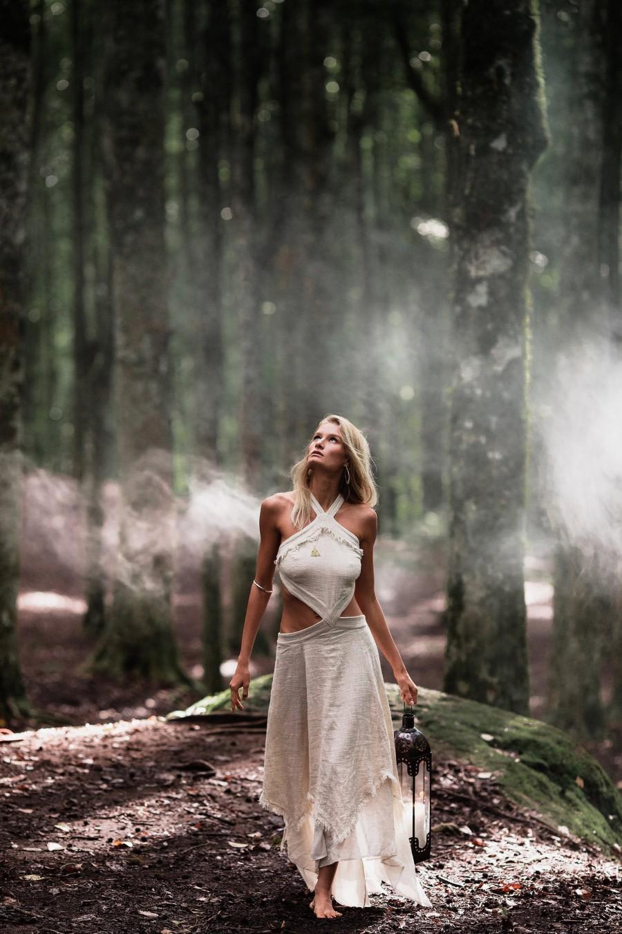 Wedding - NEW! Bohemian Boho Wedding Dress • Organic Boho Dress White • Goddess Maxi Long Dress • Hippie Simple Wedding Dress •Gypsy Bridesmaid Dress