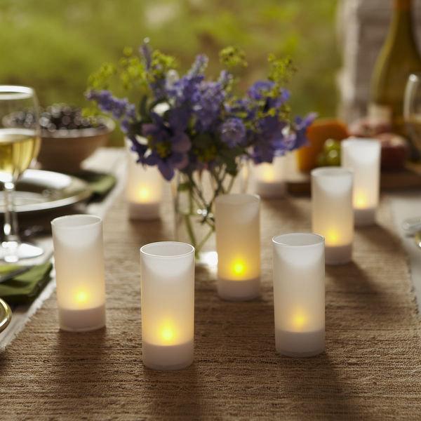 Mariage - Flickering Tea Lights, Flameless Tea Lights, Battery Operated, Mood Lighting, Romantic, Wedding, Centerpieces, Flameless Candlelight, 10 pcs