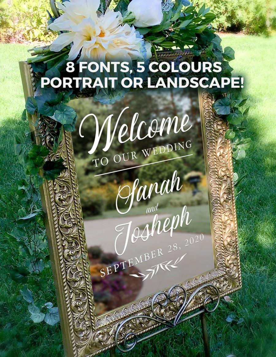 Hochzeit - Welcome to Our Wedding Custom Vinyl Decal Sticker, Wedding Decor, Custom Welcome Wedding Signs