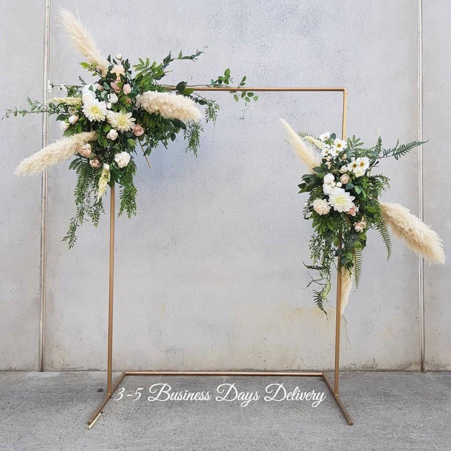 Wedding - Copper Wedding Arch, Wedding Backdrop Stand, Gold Wedding Arch, Copper Stand, Copper Arbor, Wedding Flower Arch, Floral Archway, Photo Booth