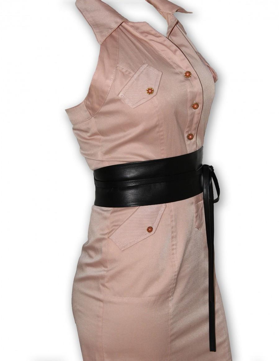 "Wedding - New VIKTOR SABO Exclusive Canadian Handmade OBI Black Lambskin For The Waist line Up To 30""/76.2 cm  Large"