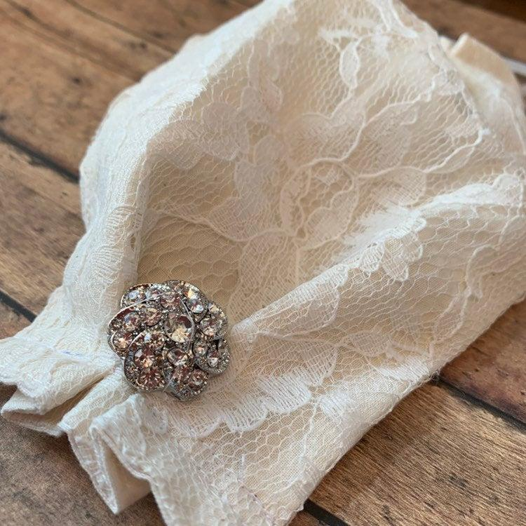 Wedding - Bridal Face Mask-USA MADE
