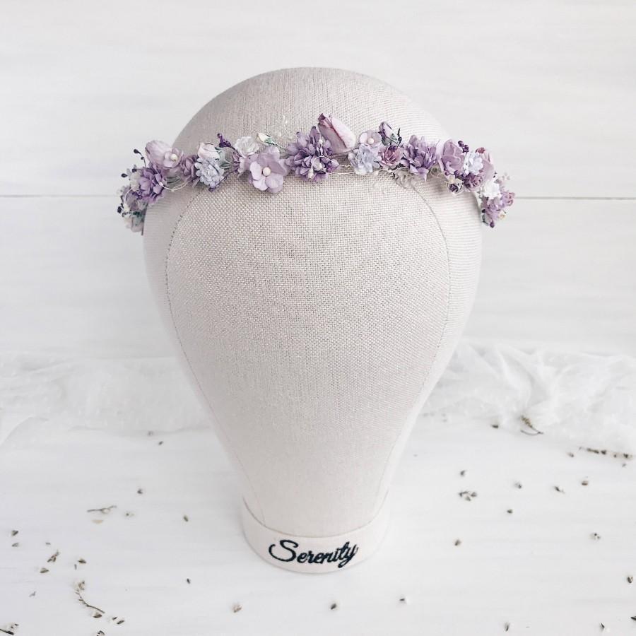 زفاف - Flower crown, Lavender wedding, Flower girl crown, Wedding hair piece, Bridesmaids