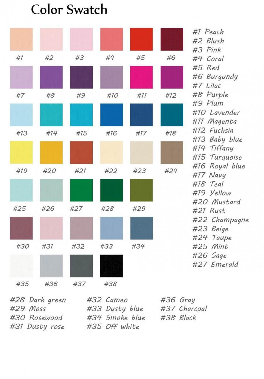 Wedding - Color Swatch, If you like the color and would order dresses, please do not place orders at wide intervals. Thank you.