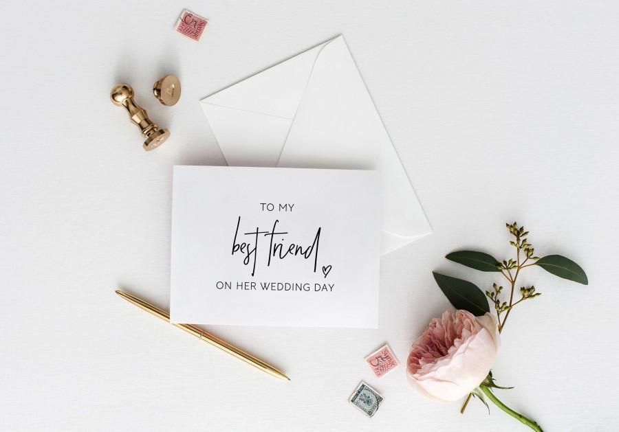 Wedding - To My Best Friend On Her Wedding Day Card, Best Friend Wedding Card, Gift for Bride, Wedding Card Best Friend, Bestie Card, Bridal Party