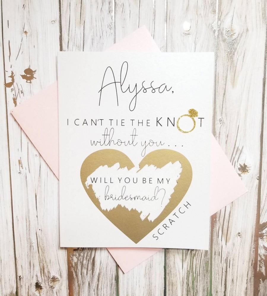 Wedding - Personalized Bridesmaid Proposal Card.  Bridal Party Proposal Card.