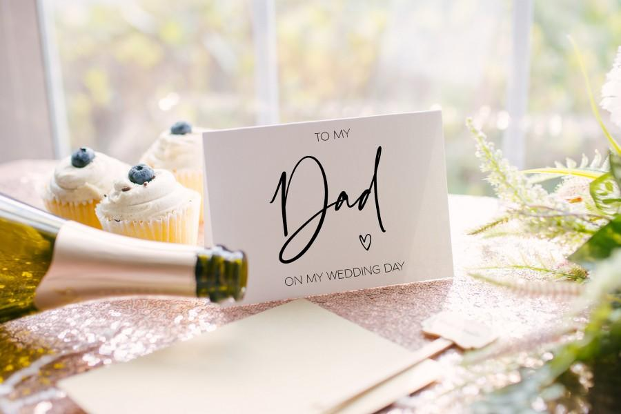 Wedding - To My Dad On My Wedding Day, Card Father Of The Bride Card, Dad of Bride Gift, Dad Gift Wedding, To My Dad, Father of Groom Gift BT