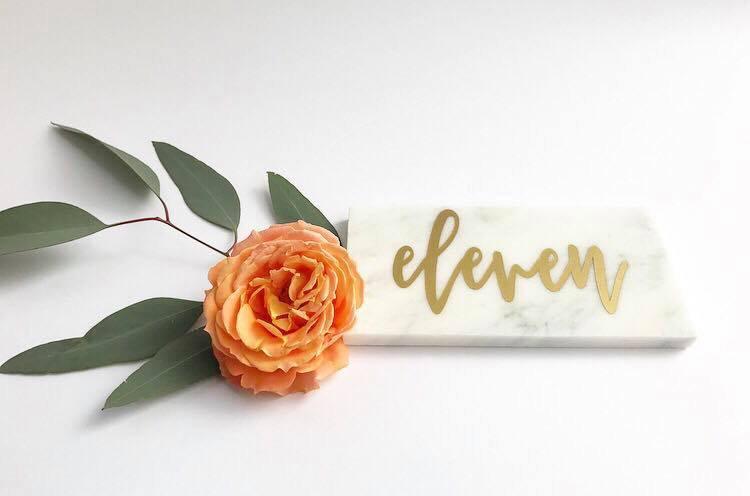 Свадьба - Marble Table Numbers