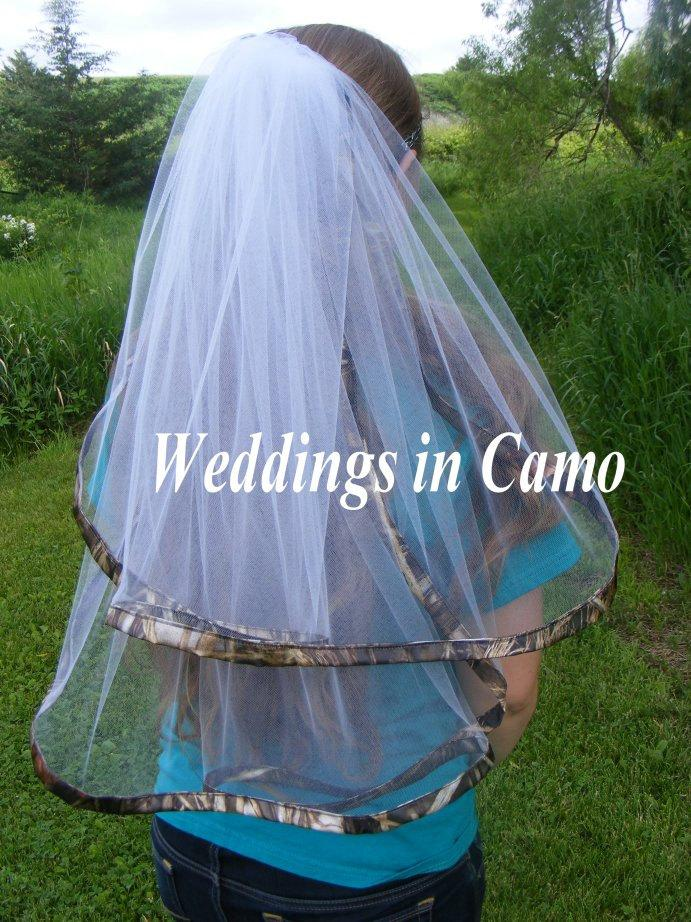 Mariage - CAMO Veil Ribbon Double layered  ALL Camo COLORS