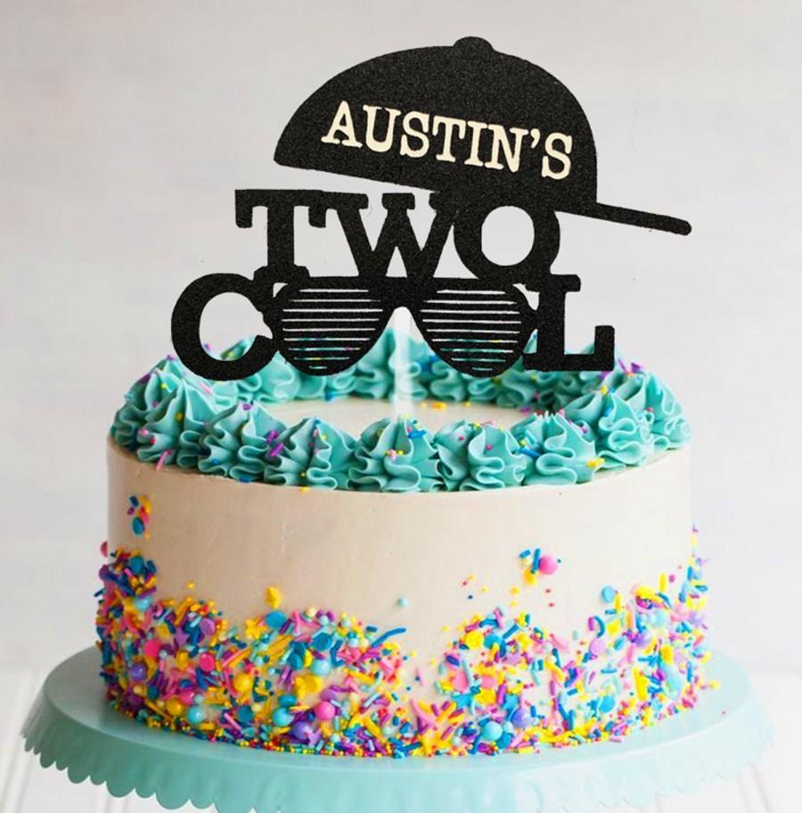 Hochzeit - Two Cool Any Name Cake Topper