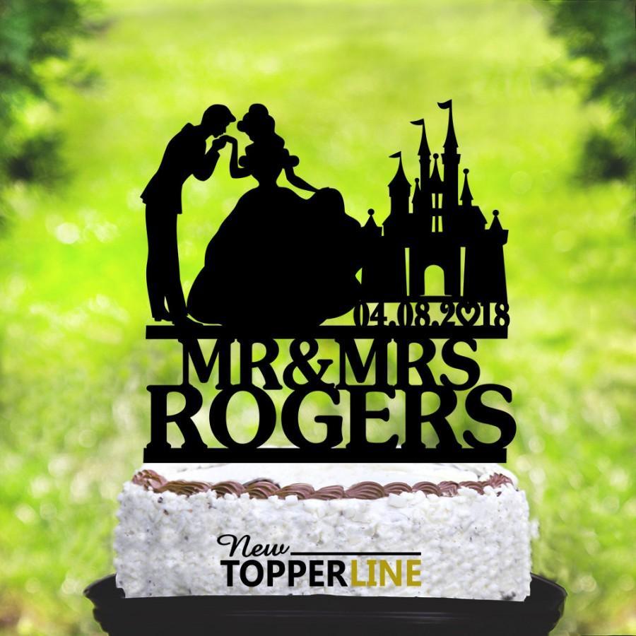 Wedding - Wedding cake topper,Cinderella and Prince Charming Cake Topper,Custom Wedding Cake Topper,Cinderella Cake Topper,Mr and Mrs topper (2148)
