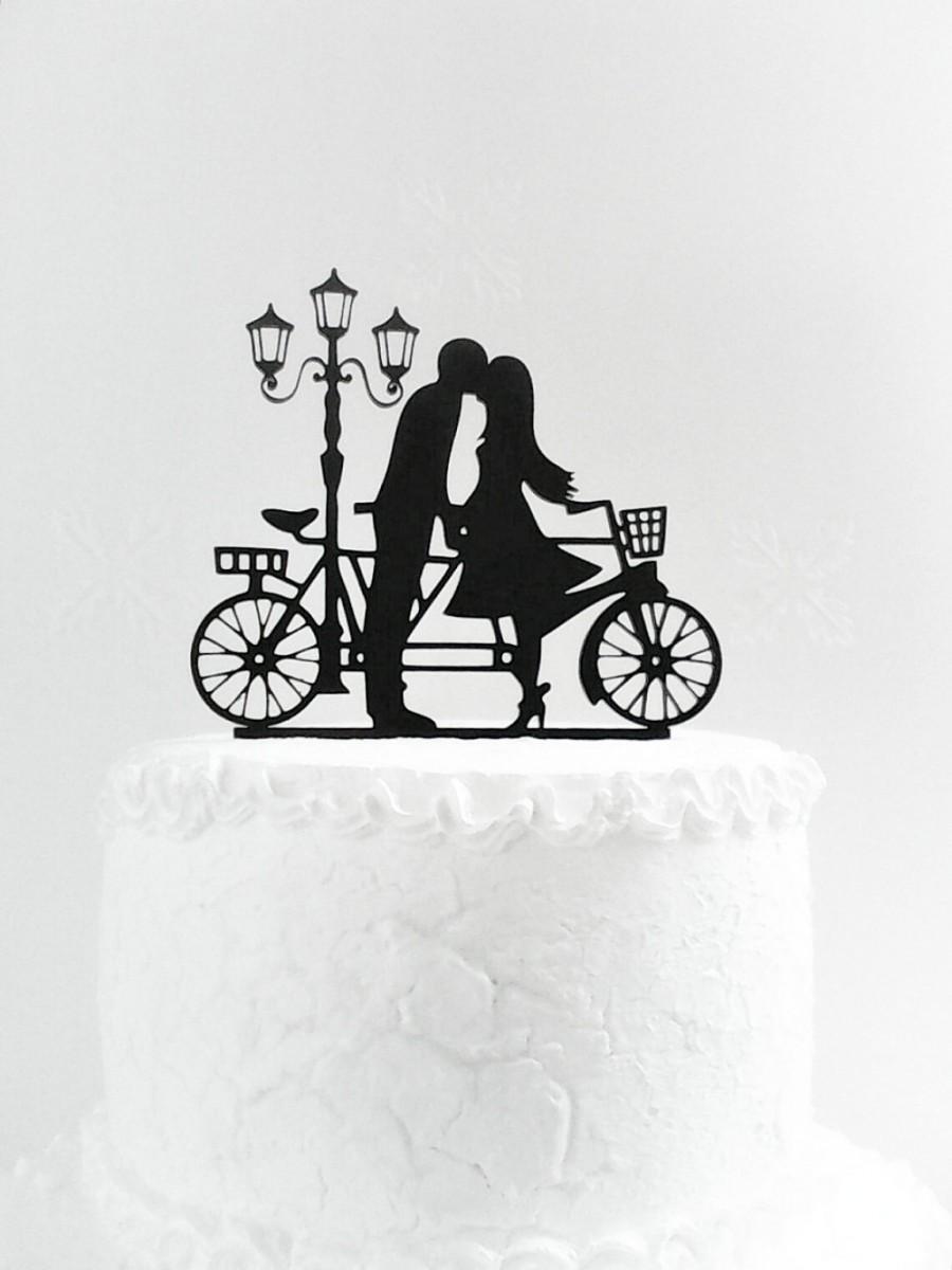 Wedding - Wedding cake topper silhouette, Family cake topper, Bride and Groom cake topper