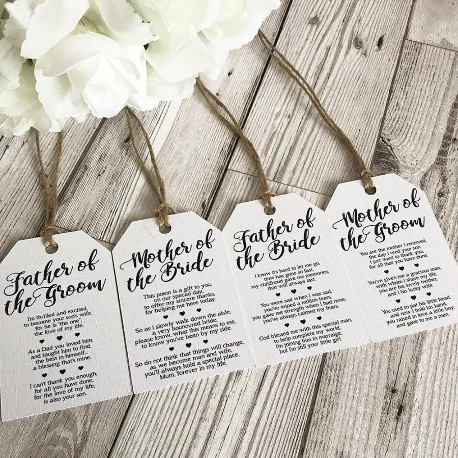 Wedding - Wedding Place Settings - Top Table - Name Places - Wedding Poem