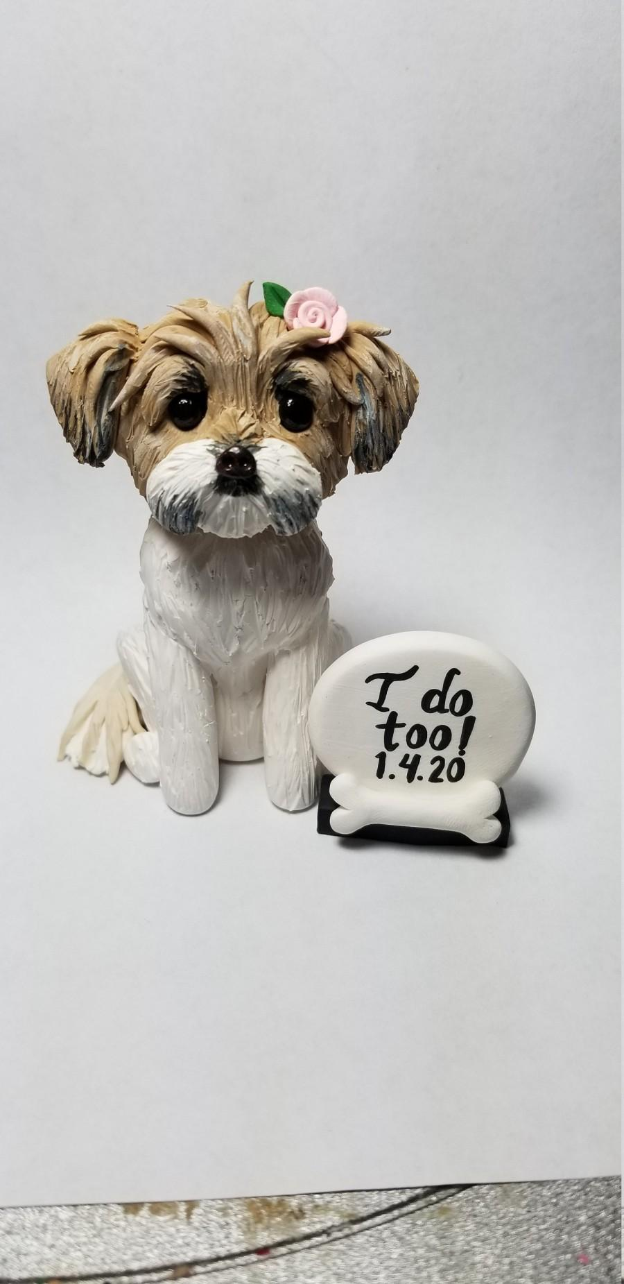 Wedding - Custom Dog Topper with Sign