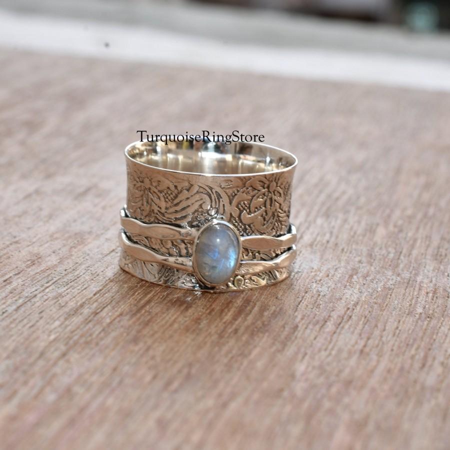 Meditation Ring Boho Ring Anxiety Ring Handmade Ring Spinner Ring Fidget Ring Women Ring 925 Silver Ring Promise Ring Gift For Her