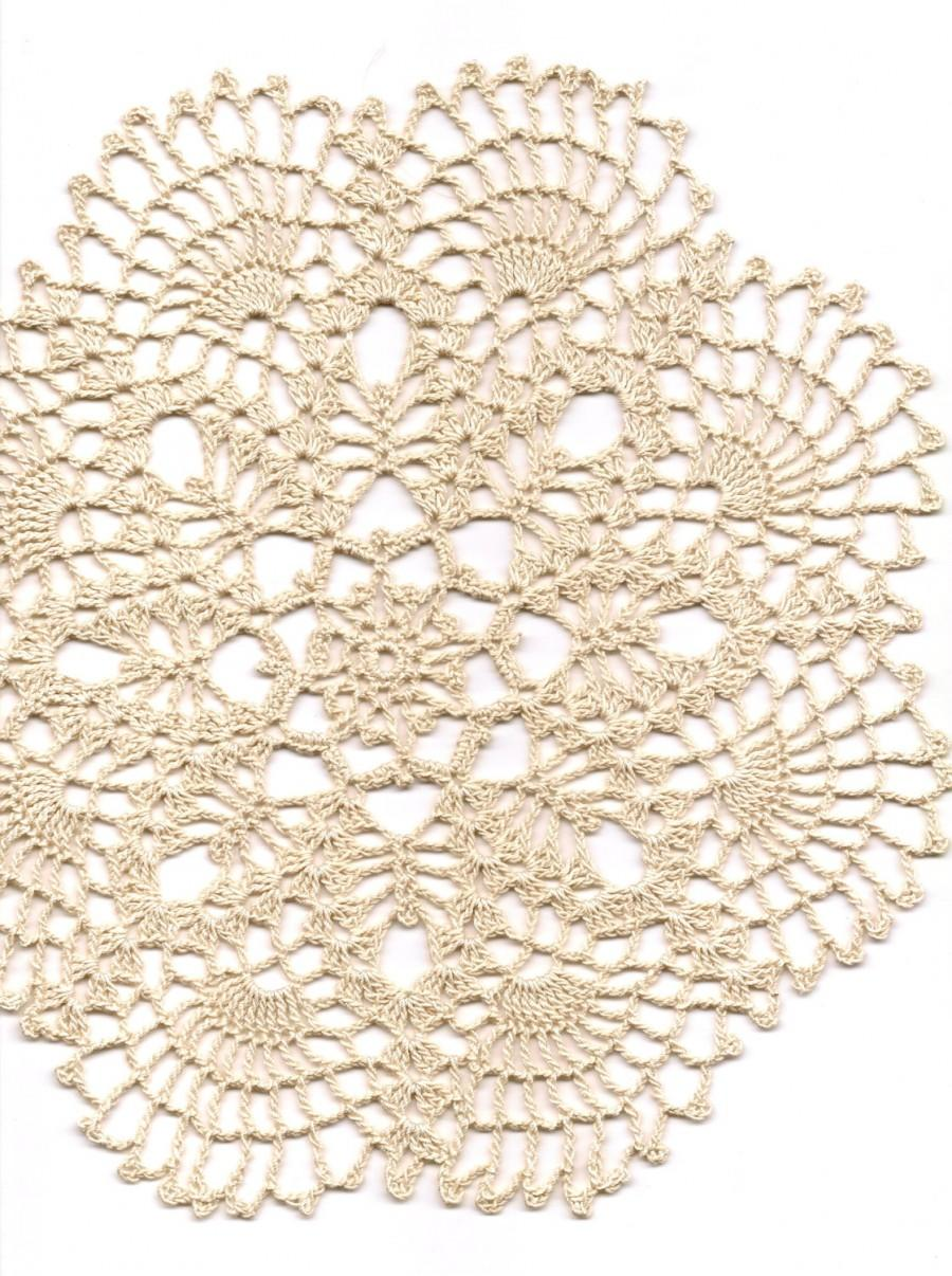 Hochzeit - Crochet Lace Doily Small Crocheted Doilies Housewarming Gift Home Wedding Decor Handmade Decoration 100% Cotton Textile Art Vintage Interior