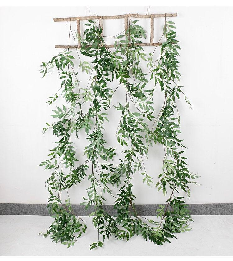 زفاف - Greenery wedding Garland 1.7 meters artificial/ Greenery table runner/ Eucalyptus Garland/ Wedding Garland/ Greenery Garland/ Backdrop decor