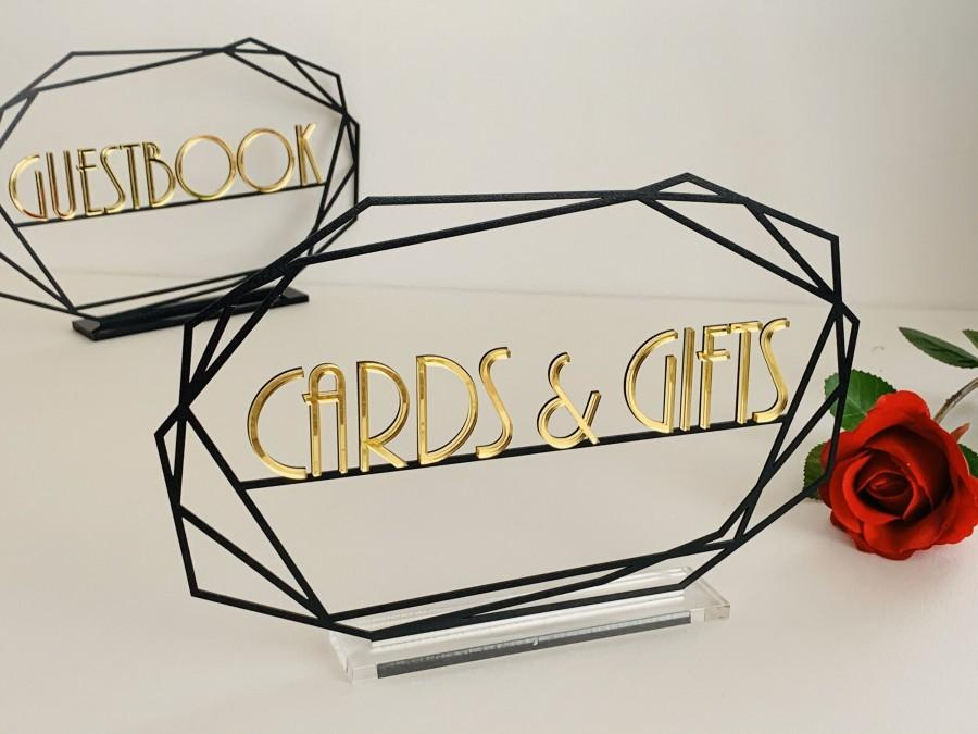 زفاف - Guestbook, Gifts & Cards Table Signs, Personalized Custom Metal Wedding Signs Set Unique Freestanding Reception Parties Events Decorations