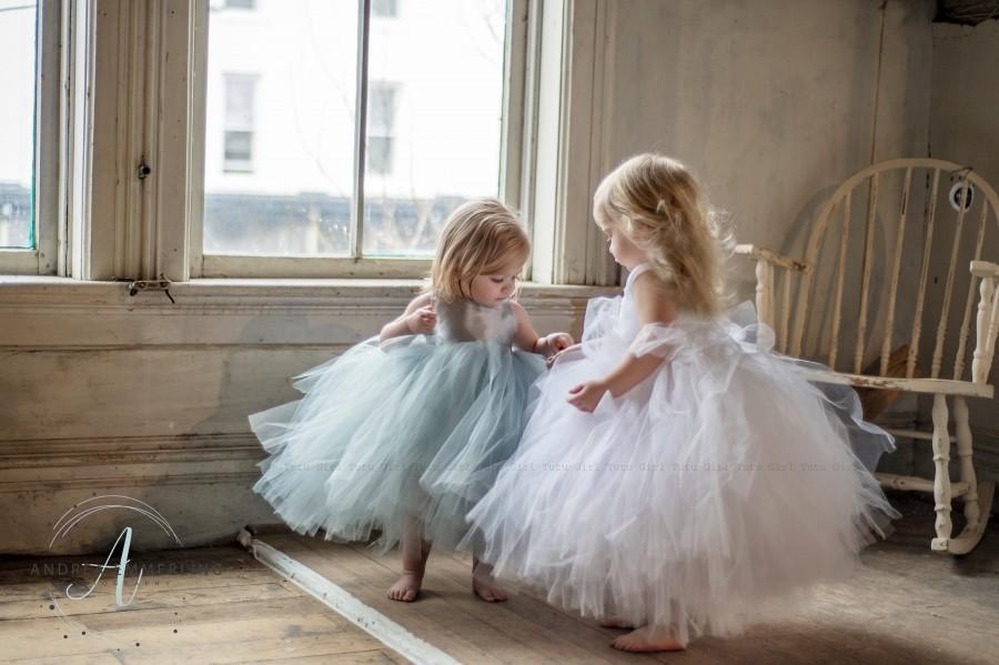 Wedding - Toddler Girl Flower Girl Dress Kids, Ivory White Flower Girl Dress, Tutu Dress, Girls Tulle Dress, Flower Girl Wedding Dress Girl Size