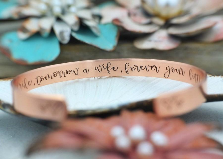 Wedding - Mother of the Bride Gift - FFPB - Today a BRIDE, tomorrow a wife, forever your little girl - Bracelet - Wedding Gift - Gift for Mom