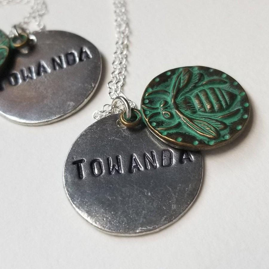 Wedding - Towanda Fried Green Tomatoes Fannie Flagg Southern Birthday Friendship Bee Charmer Gift Idgie and Ruth Cousin 90s Movie Inspired Necklace
