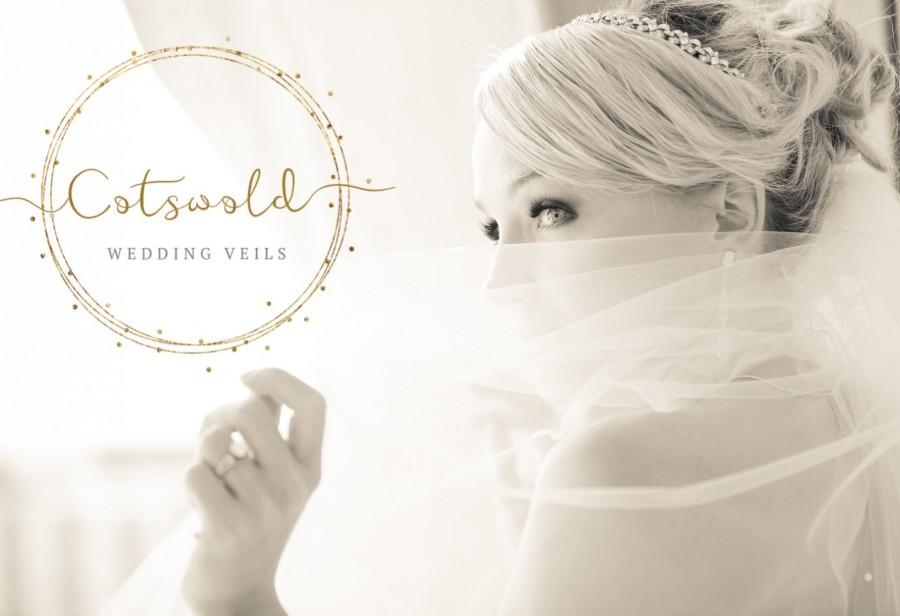 Mariage - Wedding Veil, Beautiful Cut Edge Veil, Single Layer Ivory Veil, Various Lengths, Soft Tulle, Waist, Fingertip, Floor, Chapel, Cathedral Veil