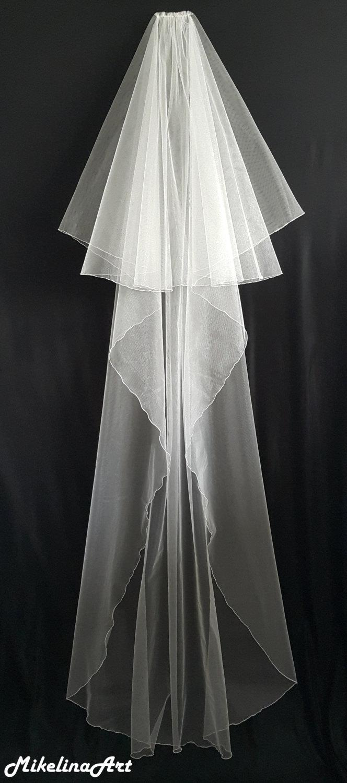 Hochzeit - Ivory Wedding Veil, Two Layers