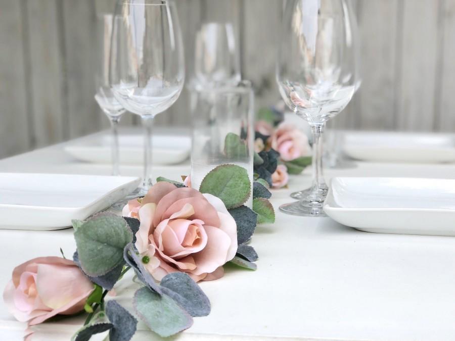Hochzeit - 8 ft Champagne Flower Garland
