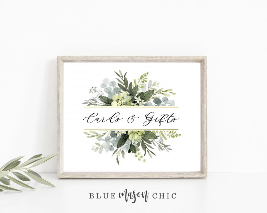 Hochzeit - Cards and Gifts Well Wishes Table Mr. & Mrs. Sign Chalkboard Wedding Reception Party Printable