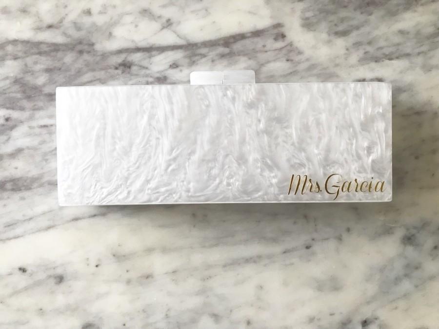 Mariage - Personalized Acrylic Clutch, Box Clutch, Custom Acrylic Clutch, Bridal Clutch, Custom Bride Clutch, Purse, Acrylic Purse, Acrylic Clutch