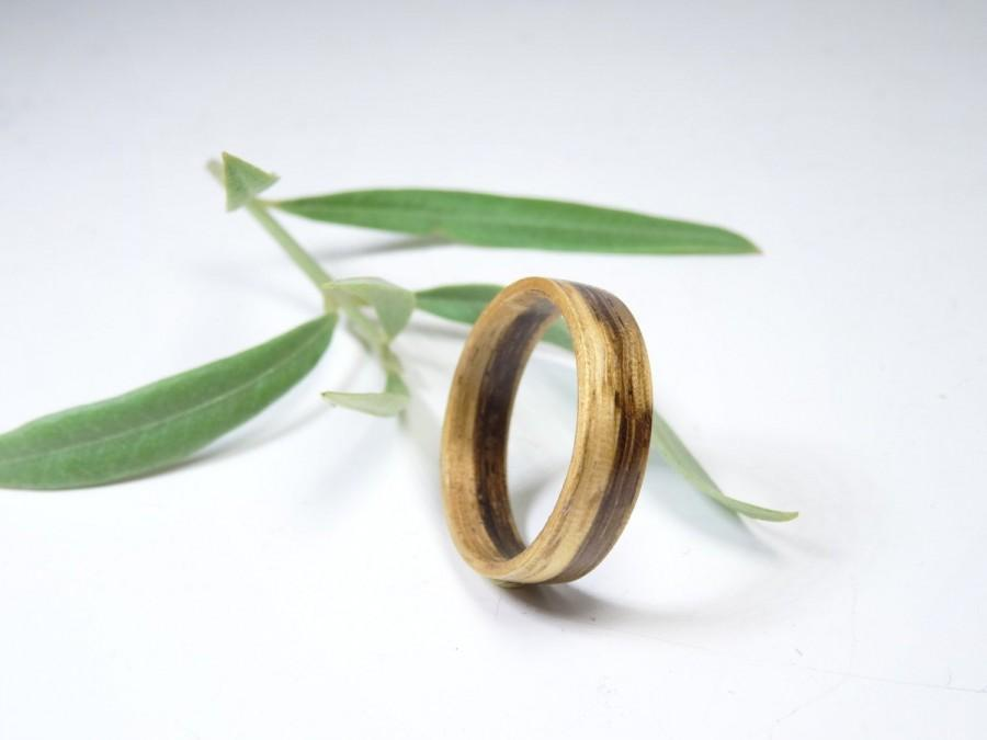 Mariage - Wooden ring from Zebrawood, Bentwood Ring , jewelry engagement , wedding band , ring for men , ring for women