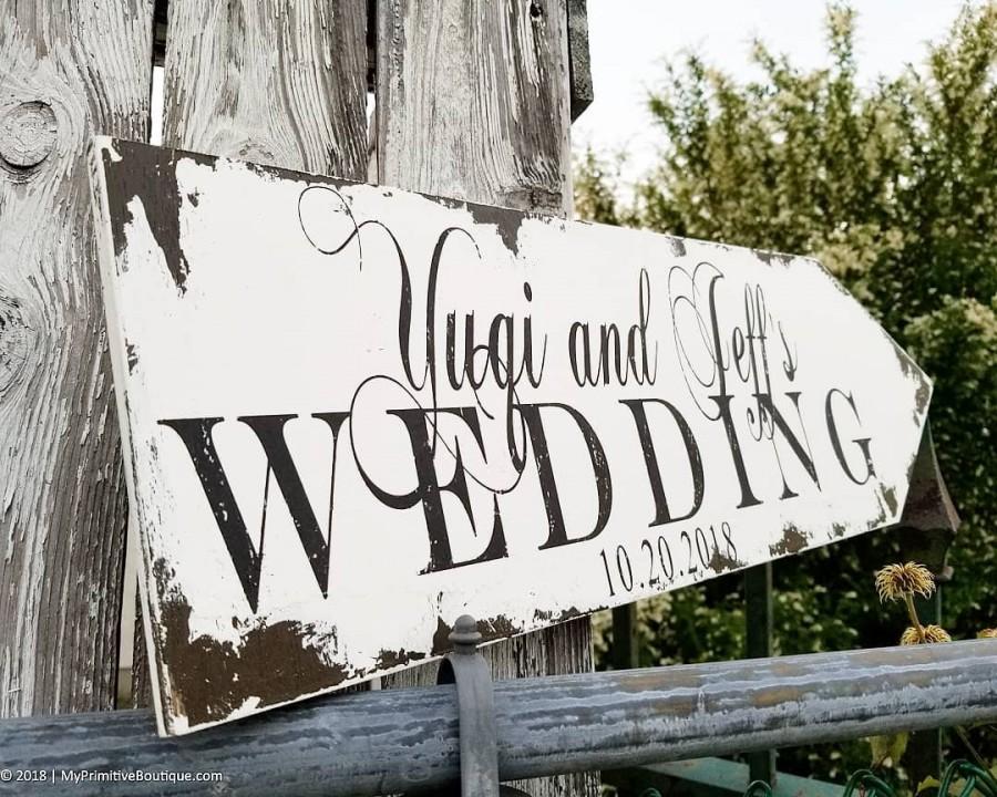 Hochzeit - Rustic Wedding Arrow Sign