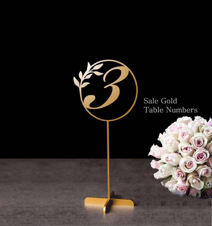 Hochzeit - Table numbers -Wedding Table Numbers -  Elegant Gold table numbers - Freestanding numbers for wedding- Table numbers-Wedding Decor