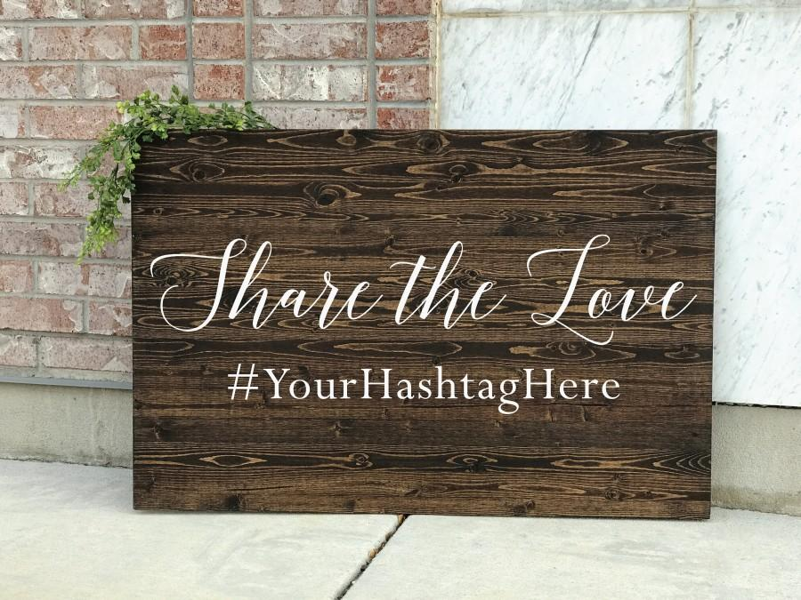 Mariage - Share the Love Hashtag Sign,  wedding Instagram sign, Wedding hashtag sign, Instagram wedding sign, social media sign- Chantilly Collection