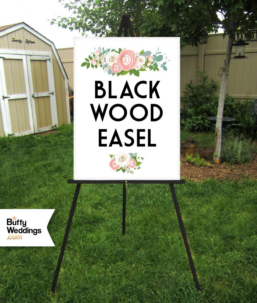 "Hochzeit - BLACK Easel . Wedding Sign Easel Floor Stand Displays Large Acrylic Sign Foam Board Sign Large Canvas Sign Wood Sign . 16""x20"" to 30""x40"""