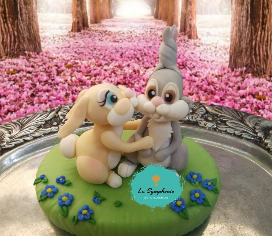زفاف - Thumper & Miss Bunny kissing topper. Rabbit wedding cake topper. Bunny wedding topper.                      Disney cake topper