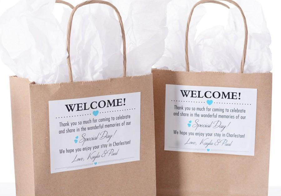 Mariage - Custom Wedding Welcome Bags, Wedding Welcome Stickers, Thank You Bags, Hotel Welcome Bags, Out of Town Guest Bags, Wedding Favor Bags