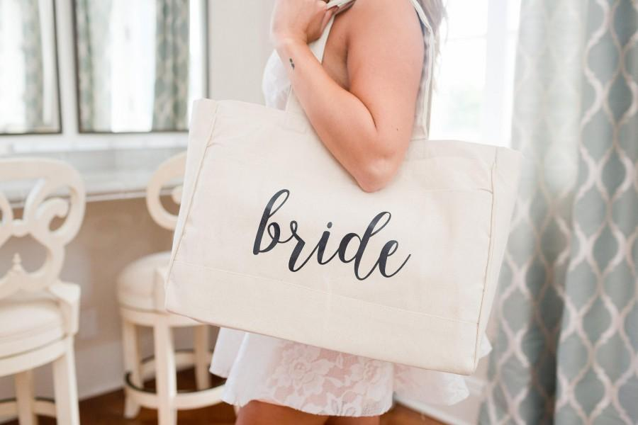 Mariage - Bride Tote Bag Bridesmaid Maid of Honor Beach Bag Bachelorette