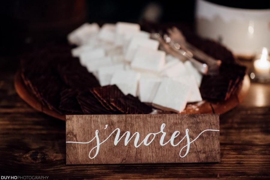 Hochzeit - Smores S'mores Sign - Wooden Wedding Signs - Wood -nc