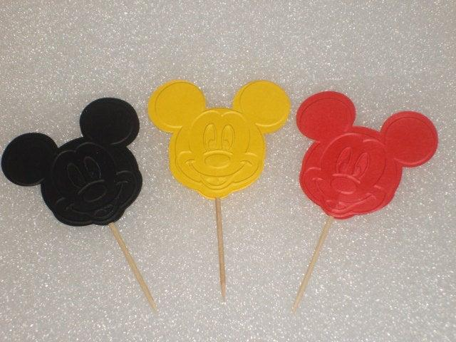 زفاف - Mickey and Minnie Mouse Cupcake Topper Picks for Children Birthdays, Baby Showers, Parties