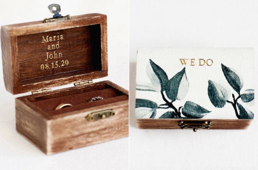 Свадьба - Personalized Wedding Ring Box, Rustic Ring Box, Ring Holder, Wood Ring Box, Ring Box Wedding, Engagement Ring Box, Wooden Ring Box, Custom