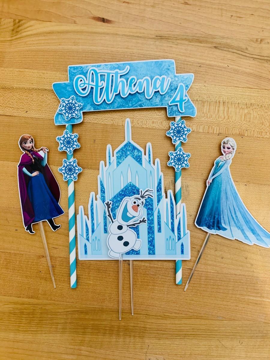 Hochzeit - Personalized Frozen Cake Topper