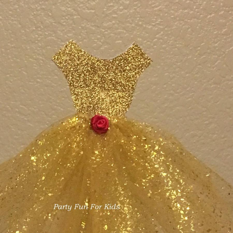 Wedding - Princess Dress Cake Topper, Handmade Glitter Gown, Choice of Glitter Color