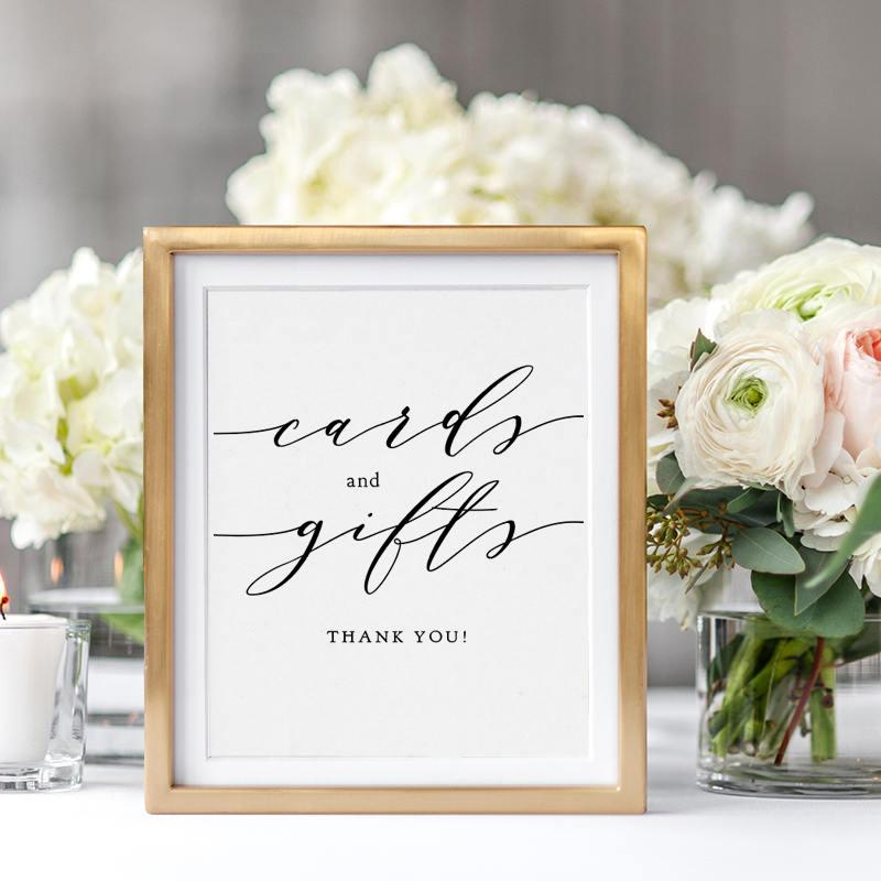 """Wedding - Wedding Cards and Gifts Sign, Wedding Signage 5x7"""" and 8x10"""", Wedding Sign printable wedding sign, """"Wedding"""", Download and Print"""