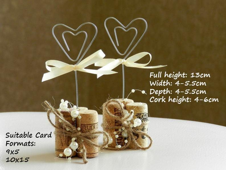 Hochzeit - Place Card Holders, Wine Tasting Party Decor, Winery Wedding Decor, Wine Cork Place Card Holder, Rustic Wedding Decorations