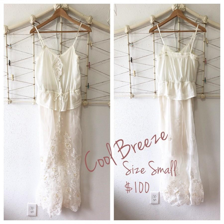 Hochzeit - Boho Vintage Dress- Cool Breeze