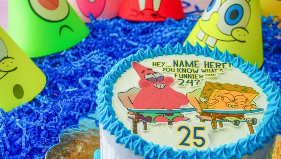Свадьба - Spongebob cake topper - 25 spongebob cake - edible topper