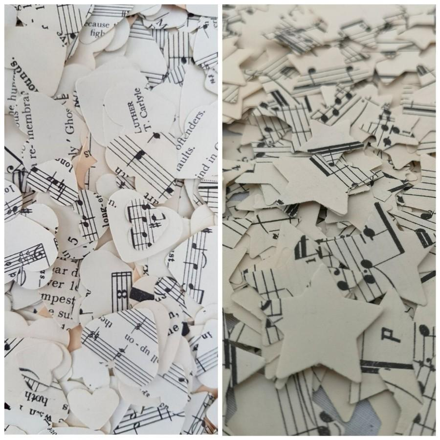 Hochzeit - Sheet Music Wedding Table Confetti Decoration Hearts and Stars/Jazz Musical Party Decorations/Opera Concert Afterparty Celebration Scatters