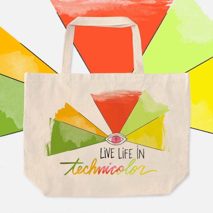 Mariage - Rainbow Tote Bag.Pride Tote Bag.Desert Tote Bag.Eye Tote Bag.Desert Tote Bag.Arizona Tote Bag.Desert Eye Art.Eye of the Desert.Rainbow Bag