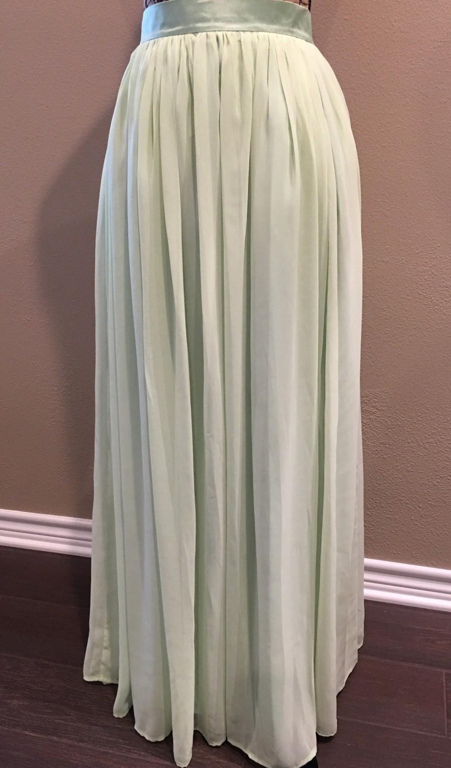 Свадьба - Sage Green Skirt Bridesmaid Dress Chiffon Maxi Skirt Long Wedding Skirt Womens Custom Skirt Bridesmaids Skirt Engagement Skirt Maxi Skirt